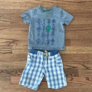 Baby Gap t-shirt and shorts